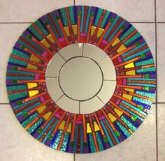 Mosaic Stain Glass Mirror
