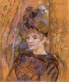 Portrait of Suzanne Valadon by Henri Toulouse-Lautrec  http://artblogbybob.blogspot.com/2008_09_01_archive.html
