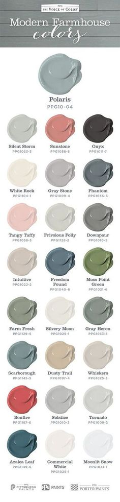 Farmhouse Paint Color. Farmhouse color scheme and paint colors for every room.