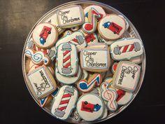 Barbershop quartet cookies