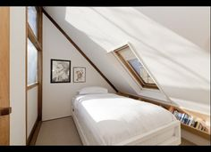 Attic: with low angled cielings