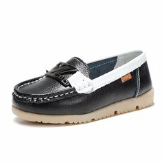 Children Casual Shoes Flats Soft Sole Leather Sneakers Slip on Loafers Boat  Footwear 2b4909cc9ef2
