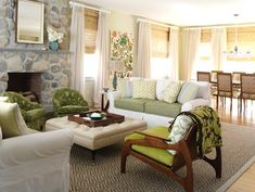 Bamboo Roman blinds   Southern Hospitality