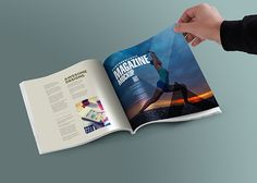 Display your magazine, catalog and brochure spread designs creatively using this…