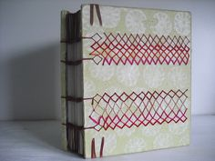 handmade book with embroidered cover by Indianablue