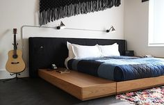 Want this bed! Sally English Macrame Headboard Ace Hotel Remodelista
