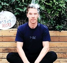 And when he, quite frankly, ruled the Ice Bucket Challenge. | 37 Times Benedict Cumberbatch Well And Truly Owned 2014