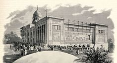 Egypt Palace, west facade, during World's Fair of 1900 in Paris. Classical Period, World's Fair, Dieselpunk, Ancient Egypt, 18th Century, Egyptian, Facade, Taj Mahal, Old Things