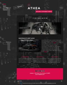 Logo and website design concept by designer Dan20071. – Jimdo template: Paris – Visit their full site here: http://athea.jimdo.com/
