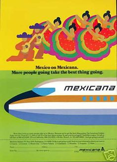 1970s Air Mexicana ad - Art and design inspiration from around the world - CreativeRoots