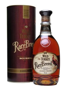 WILD TURKEY RARE BREED.  Blended from barrels of 6-12 year-old bourbon and bottled at barrel proof with no added water, Rare Breed has a rich, yet mellow flavour despite its high alcohol content.  #whisky #whiskey £45.95