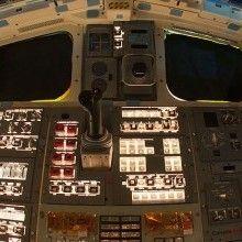Uma espiada nas salas de controle dos ônibus espaciais.