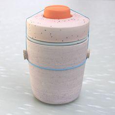 multicolor 4 part ceramic object ++ ben fiess
