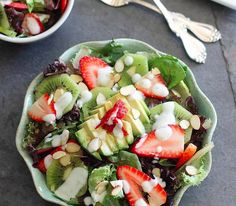 Shawn Johnson's the body department - Strawberry Avocado Honey Lime Salad