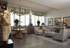 Little Lovables: Inspired Design: French Gray Interiors Good Living Room Colors, Classic Living Room, Living Room Grey, Living Room Sets, Living Room Furniture, Living Room Decor, Modern Living, Living Area, Elegant Home Decor
