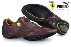 9955baec934 Cheap Puma hot sale Leather Ferrari Shoes Brown Outlet P1130 larger image  Mens Shoes Boots