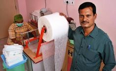 """Arunachalam Muruganantham has lead a menstrual health revolution in rural India with his invention of a simple machine to make inexpensive sanitary pads. His machine has spread to 1,300 villages in 23 states. women's self-help groups produce and sell the pads directly in a """"by the women, for the women, and to the women"""" model, providing employment for ten women. It provides women with more hygienic options and creates local economic opportunities for women."""