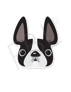 Black & White Pied / French Bulldog Mini Sticker