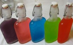 Jolly Rancher vodka in flasks -- cheap liquor and jolly ranchers = a very good time!