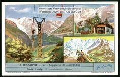 Ski Lift Macugnaga Italy c50 Y/O Card
