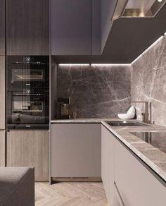 26 Ideas kitchen grey countertops interior design for 2019 Kitchen Room Design, Luxury Kitchen Design, Kitchen Dinning, Best Kitchen Designs, Kitchen Cabinet Design, Kitchen Colors, Home Decor Kitchen, Kitchen Interior, New Kitchen
