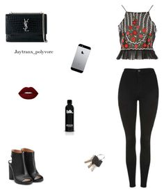 """""""Untitled #245"""" by jaytranx on Polyvore featuring Maison Margiela, Topshop, Yves Saint Laurent and Lime Crime"""