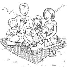 family coloring pictures family coloring pages free to print Lds Coloring Pages, Family Coloring Pages, Free Printable Coloring Pages, Coloring Pages For Kids, Coloring Books, Colouring, Family Picture Colors, Family Clipart, Kids Part