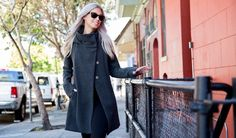 All-Day Coat (Gray) | Women's Swing Coat | Betabrand & Melissa Fleis