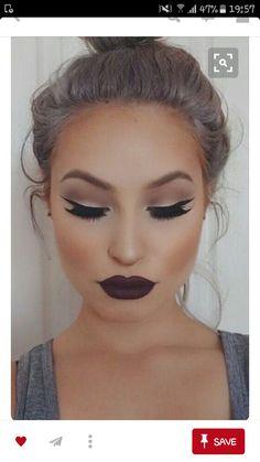 purple makeup ❤