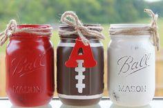 University of Alabama Collegiate Football Painted/Distress Mason Jars by PerfectlyCreatedForU on Etsy https://www.etsy.com/listing/204070023/university-of-alabama-collegiate