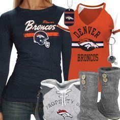 Cute Denver Broncos Fan Gear My Family Would Wear That Well The Girls In My Family. I would so wear this stuff! Denver Broncos Sweatshirt, Denver Broncos Shirts, Denver Broncos Football, Go Broncos, Broncos Fans, Football Baby, Football Season, Baseball, Nfl Jerseys