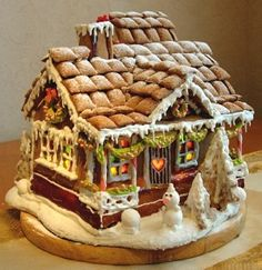 Simple-Inspiring  Gingerbread House Ideas-7