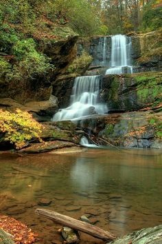 Little Bradley falls near Saluda North Carolina USA