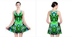 Eco Centered Reversible Skater Dress