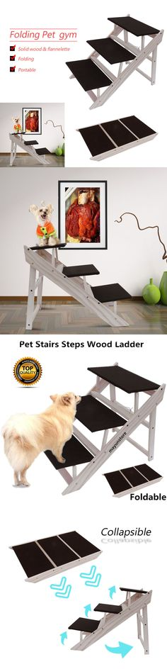 Ramps and Stairs 116389: Dog Pet Stairs Steps Indoor Ramp Portable Folding Animal Cat Ladder High Bed Al -> BUY IT NOW ONLY: $34.95 on eBay!