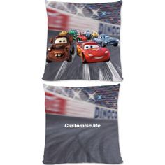 """This Fantastic Disney Pixar Cars Group Sceneofficial cushion is fully licensed and is perfect for any dedicated Disney fan. Your personalisation is merged with the stylish design and is printed onto the 18"""" x 18"""" (45cm x 45cm) brushed poly fibre cushion using the latest sublimation technology. The edge to edge design is printed on both sides and is finished with an invisible zip."""