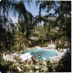 Eleuthera Pool Party print by Slim Aarons at Photos.com 51246666