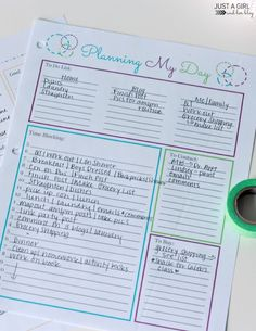 Love this post from A Girl And Her Blog - this will help organize your day! | JustAGirlAndHerBlog.com