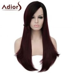 SHARE & Get it FREE | Shaggy Natural Straight Capless Stunning Black Ombre Wine Red Long Synthetic Wig For WomenFor Fashion Lovers only:80,000+ Items • FREE SHIPPING Join Nastydress: Get YOUR $50 NOW!