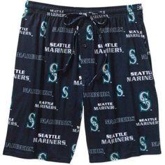 MLB Men's Seattle Mariners Knit Jam Shorts, Size: Large, Blue