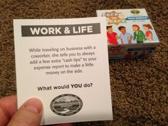 The expense account at work...What would YOU do?  FACE to FACE Teen Edition.  Scenario of the Day. 12-12-14