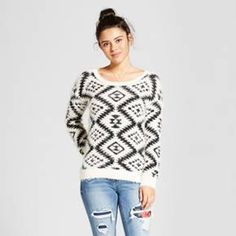 On chilly days, reach for this comfortable shapes-patterned pullover sweater from Xhilaration™.