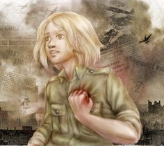 WWII - I have no more inspiration to longer description. Here's Feliks, during Germany bombard the Warsaw. Feliks is closed in prison safe and far away . This is War Poland Hetalia, Hetalia Funny, Valley Girls, Central Europe, World War, Mythology, Fan Art, Face, Otaku