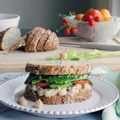 Chickpea Smash Sandwich...can't stop making these! #ontheblognow