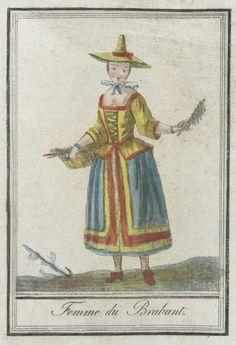 Costumes de Différents Pays, 'Femme du Brabant' | LACMA Collections (Belgium)