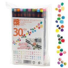 Akashiya High Quality Brush Pen 30-color Free Shipping from Japan #Akashiya