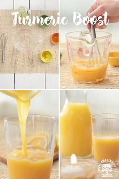 This antioxidant drink doesn't have the normal attributes of health drinks - it is tasty and refreshing. Try this turmeric antioxidant drink! Juice Smoothie, Smoothie Drinks, Detox Drinks, Healthy Smoothies, Healthy Drinks, Healthy Tips, Smoothie Recipes, Healthy Snacks, Healthy Recipes