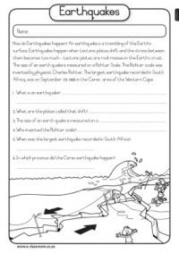 earthquake worksheets free | Earthquakes ESL Worksheet – Printable ...