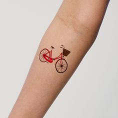 red bike tattoo from tattly $5