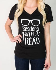 Size: LG Readers Gonna Read Women's V-neck.